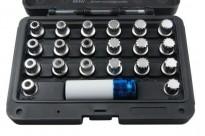 Slotbout sleutel/ wielslotbout doppenset BMW 21-delig