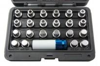 Slotbout sleutel/ wielslotbout doppenset VAG (Volkswagen Audi Group) 23-delig